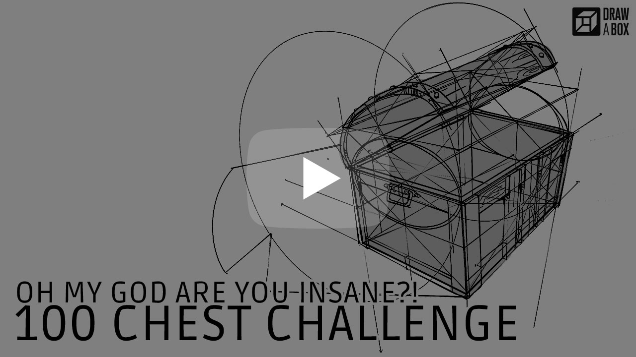 Drawabox Com Challenges And Drills 100 Treasure Chest Challenge